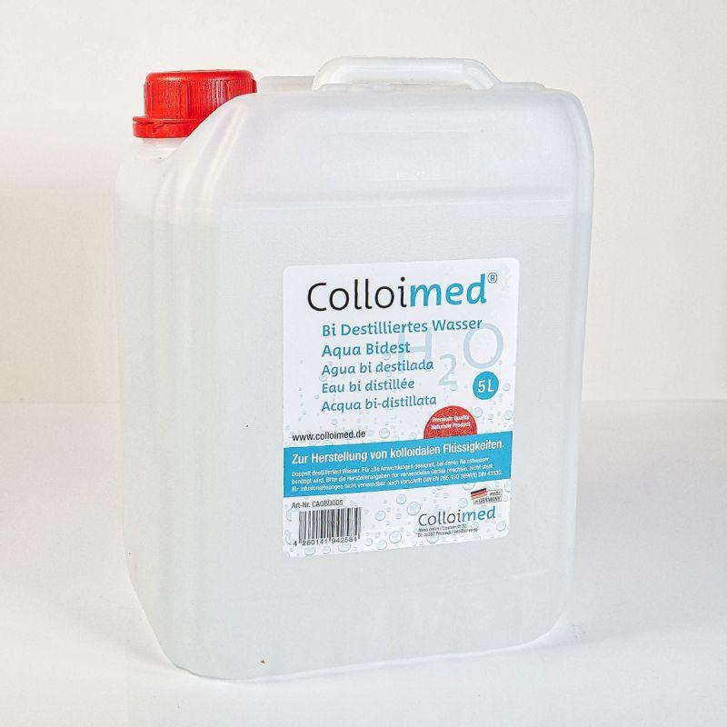 Colloimed Aqua Bidest Reinstwasser 5 Liter Kanister  - Kolloidales Wasser herstellen
