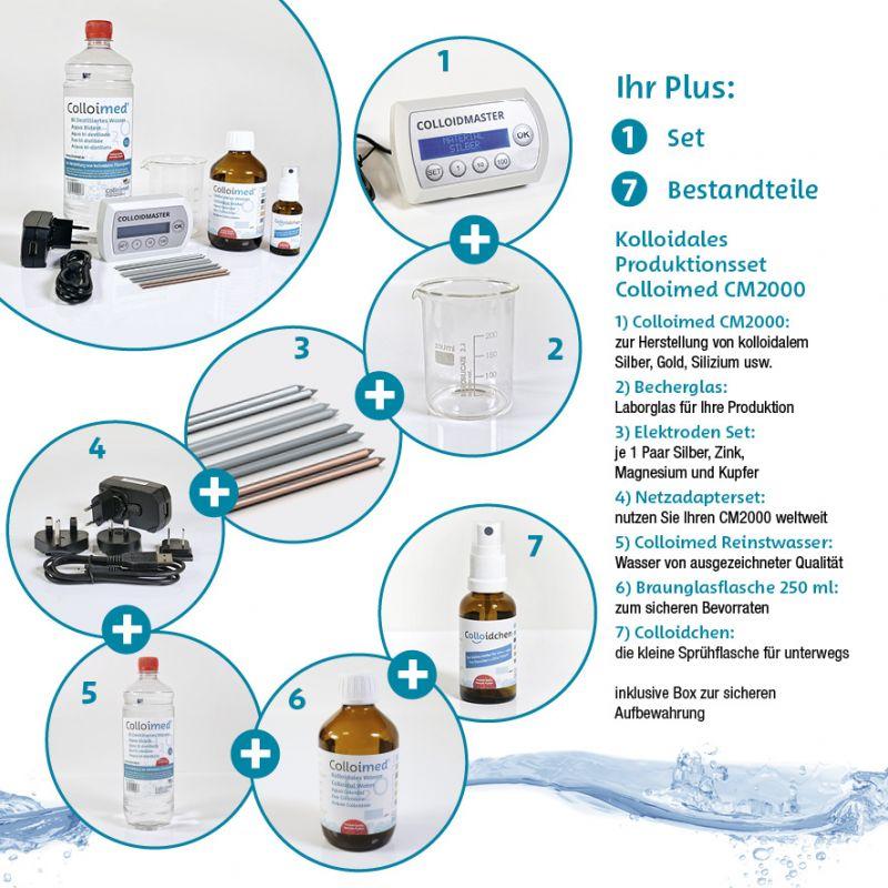 Colloimed Colloidmaster CM2000 SET kolloidales Wasser herstellen