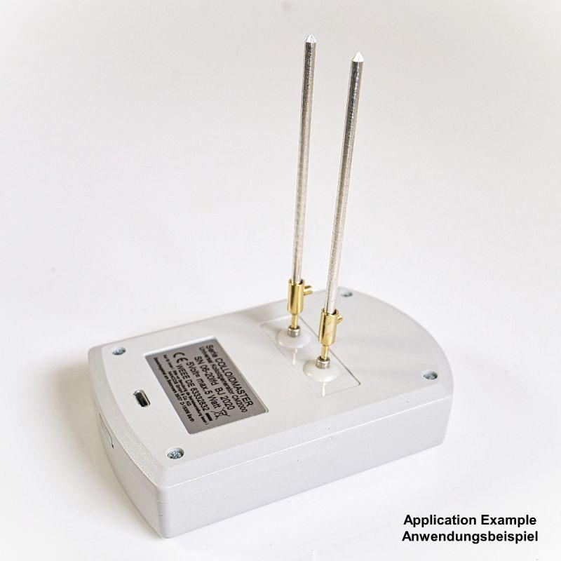 Colloimed Elektroden Adapter vergoldet von 2mm auf 3mm Anwendungsbeispiel