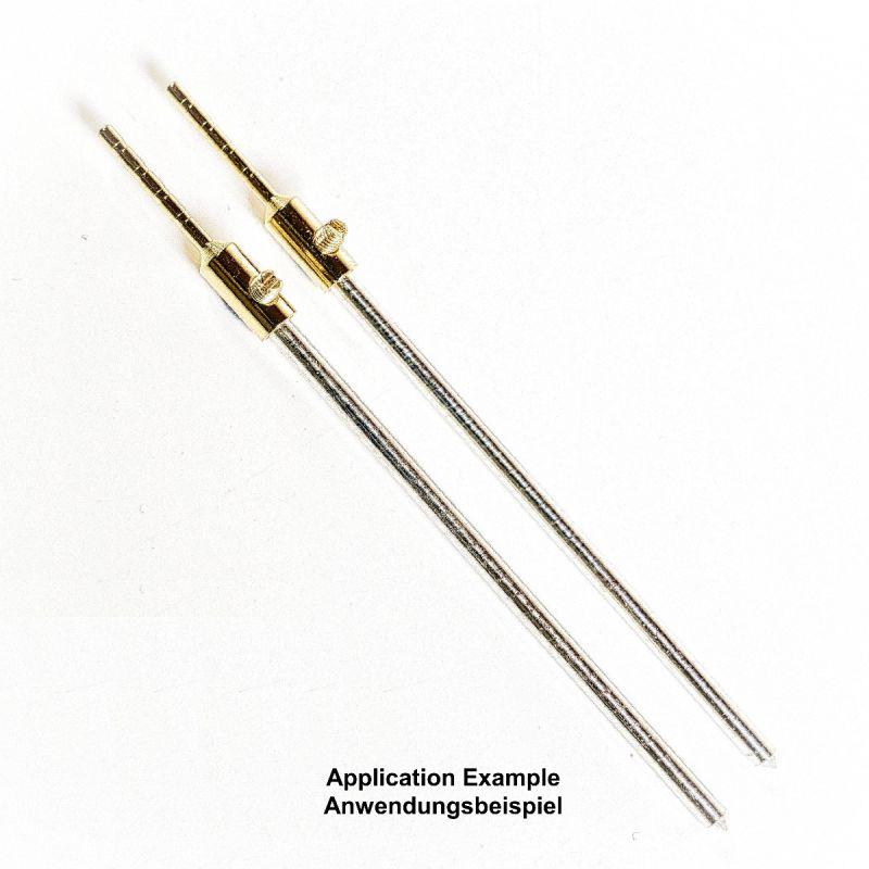 Colloimed Elektroden Adapter vergoldet von 2mm auf 3mm Anwendungsbeispiel Silber