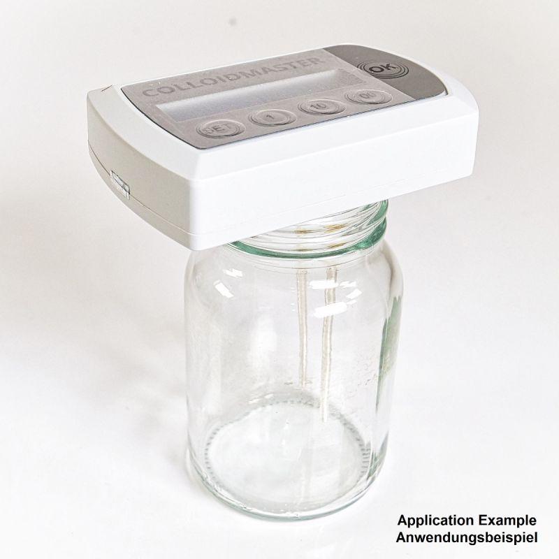 Colloimed Elektroden Adapter vergoldet von 2mm auf 3mm im Glas