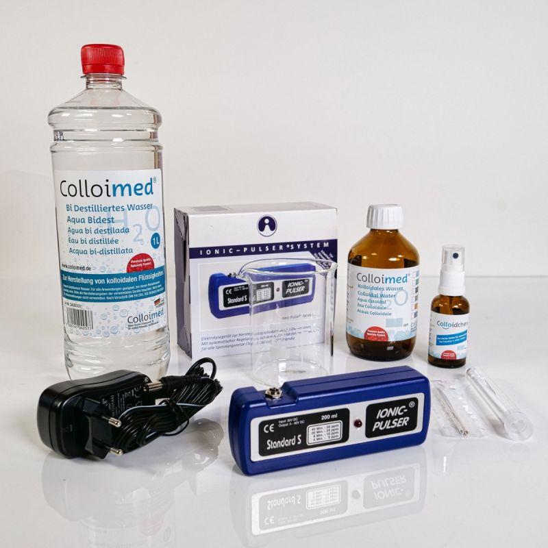 Colloimed Ionic Pulser S XXL Kolloidales Silber Set mit allem wichtigen Zubehör