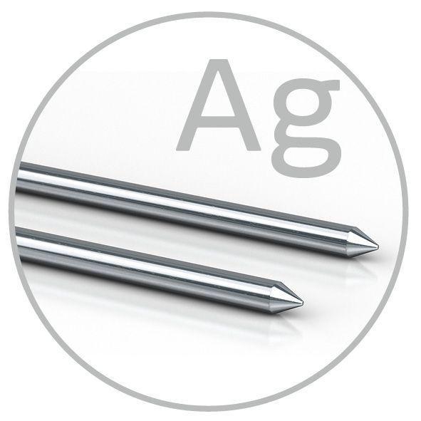 Colloimed Silber Elektroden 3mm x 300mm für Ionic Pulser Geräte. Zur Herstellung von kolloidalem Silber.