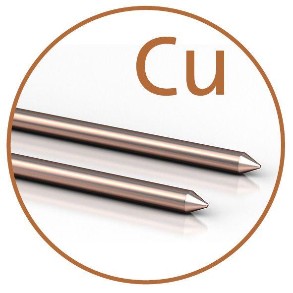 Colloimed Kupfer Elektroden 2mm x 300mm - Kolloidales Kupfer selbst herstellen