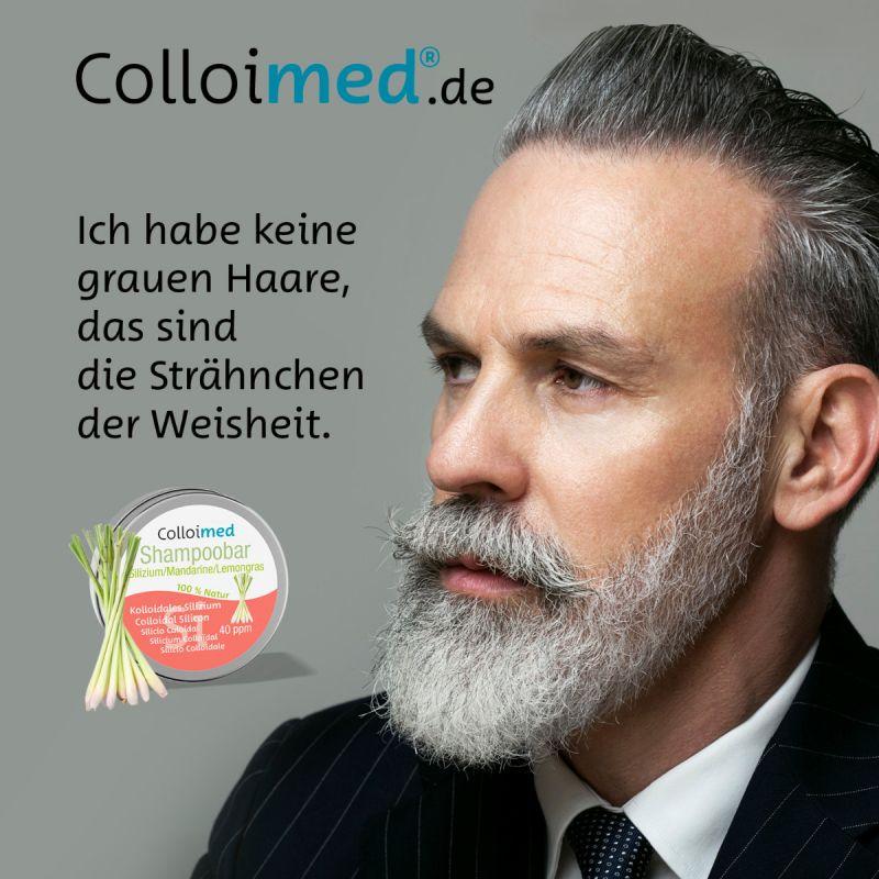 Colloimed Shampoobar Silizium - Ich habe keine grauen Haare, das sind die Strähnchen der Weisheit.