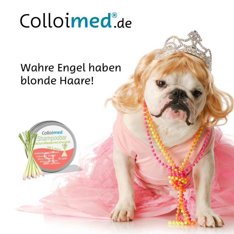Colloimed Shampoobar Silizium - Wahre Engel haben blonde Haare!
