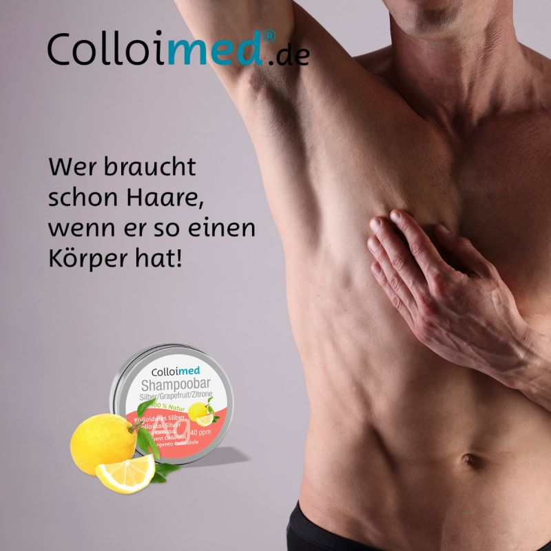 Colloimed Shampoobar Silber - Wer braucht schon Haare, wenn er so einen Körper hat!