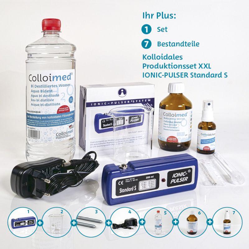 Colloimed Ionic Pulser Standard S XXL Set - Kolloidales Silber selber herstellen