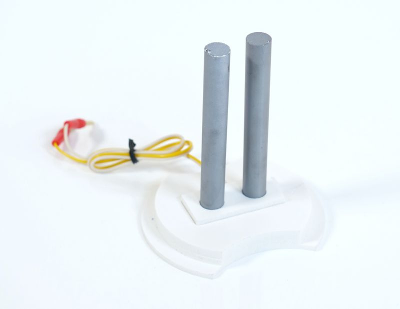 Becherglas 250ml und Kabelverbindung für Colloimed Colloidmaster Silizium- Elektroden zur Herstellung von kolloidalem Silizium mit dem Colloimed Colloidmaster CM1000.