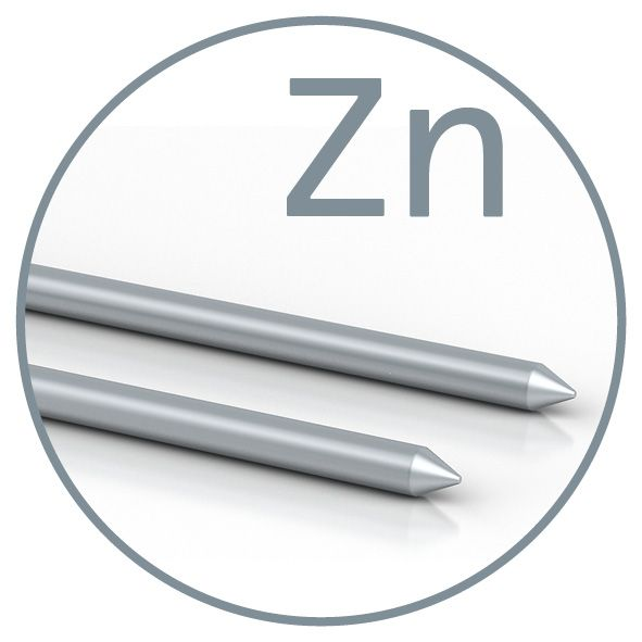 Colloimed Zink-Elektroden - 2mm x 82mm für CM1000 und CM2000