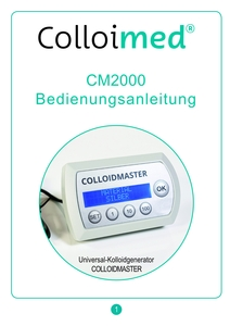 Anleitung CM2000 Kolloidgenerator